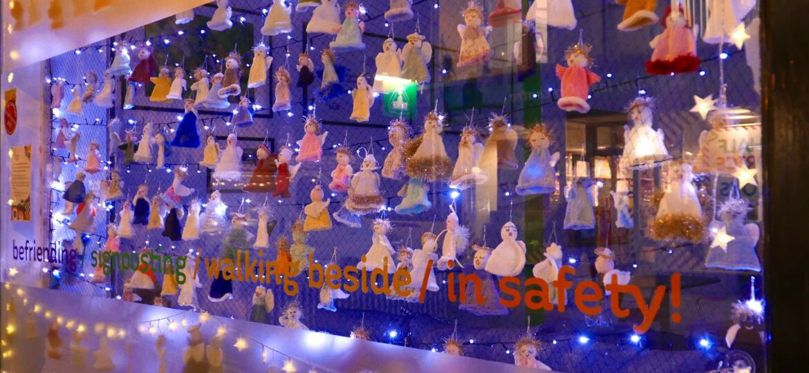 Knitted angels bringing hope and love at the Harrogate Hub